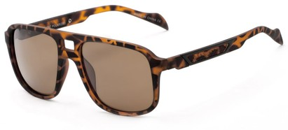 Angle of Warren #5454 in Tortoise Frame with Amber Lenses, Men's Aviator Sunglasses