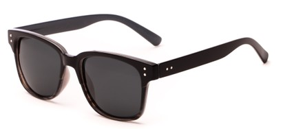 Angle of Diesel #5979 in Black/Grey Fade Frame with Grey Lenses, Women's and Men's Retro Square Sunglasses
