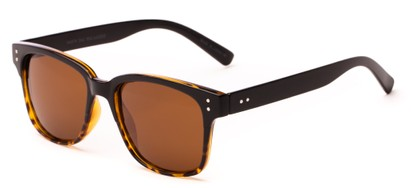 Angle of Diesel #5979 in Brown Fade Frame with Brown Lenses, Women's and Men's Retro Square Sunglasses