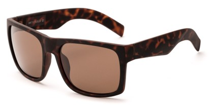 Angle of Range #4098 in Matte Tortoise Frame with Brown Lenses, Men's Square Sunglasses