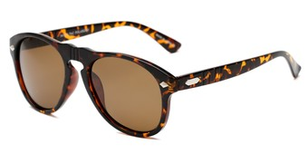 Angle of Burton #54107 in Tortoise Frame with Amber Lenses, Women's and Men's Round Sunglasses