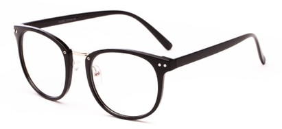 Angle of Clef #5438 in Black/Silver Frame, Women's and Men's Round Sunglasses