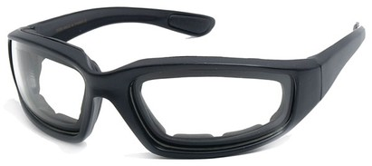 Angle of Abyss #54585 in Black Frame with Clear Lenses, Women's and Men's Sport & Wrap-Around Sunglasses