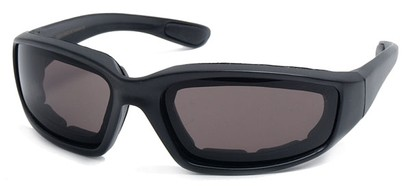 Angle of Abyss #54585 in Black Frame with Smoke Lenses, Women's and Men's Sport & Wrap-Around Sunglasses