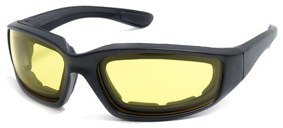 Angle of Abyss #54585 in Black Frame with Yellow Lenses, Women's and Men's Sport & Wrap-Around Sunglasses
