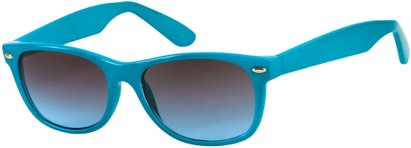 Angle of SW Neon Retro Style #1610 in Neon Blue Frame, Women's and Men's
