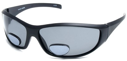 Angle of SW Polarized Bi-Focal Style #55063 in Matte Black with Smoke Lenses, Women's and Men's