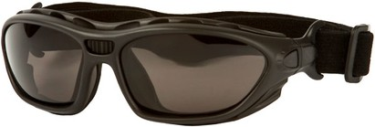 Angle of SW Goggle Style #2350 in Black Frame with Smoke Lenses, Women's and Men's