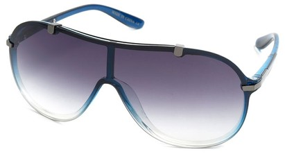 Angle of SW Shield Style #910 in Blue Frame, Women's and Men's