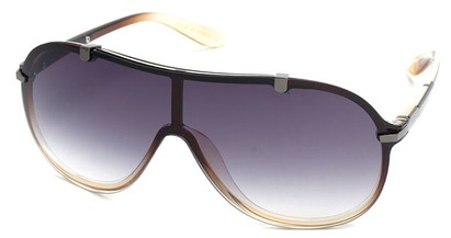 Angle of SW Shield Style #910 in Brown Frame, Women's and Men's