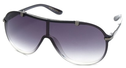 Angle of SW Shield Style #910 in Grey Frame, Women's and Men's