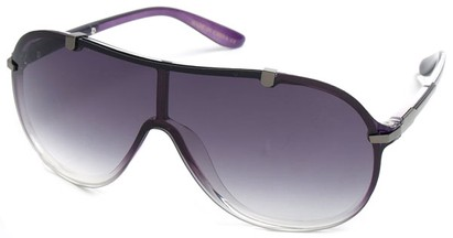 Angle of SW Shield Style #910 in Purple Frame, Women's and Men's