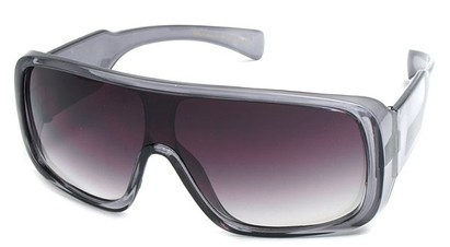 Angle of SW Shield Style #540431 in Clear Grey, Women's and Men's