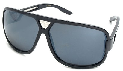 Angle of SW Celebrity Oversized Style #4210 in Black Frame, Women's and Men's