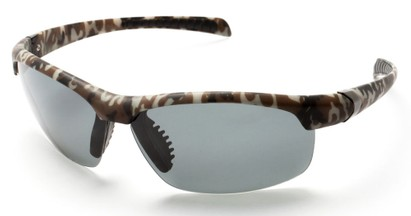 Angle of SW Polarized Sport Style #5708 in Brown Camouflage Frame with Smoke Lenses, Women's and Men's