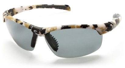 Angle of SW Polarized Sport Style #5708 in Tan Camouflage Frame with Smoke Lenses, Women's and Men's