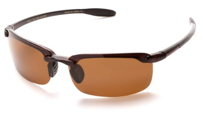 Angle of Continental #5712 in Glossy Tortoise Frame with Amber Lenses, Women's and Men's Sport & Wrap-Around Sunglasses