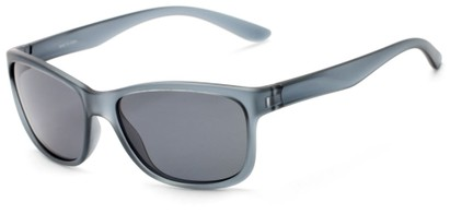 Angle of Everglade #5709 in Frosted Grey Frame with Smoke Lenses, Women's and Men's Retro Square Sunglasses