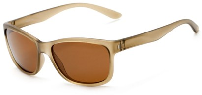 Angle of Everglade #5709 in Frosted Olive Frame with Brown Lenses, Women's and Men's Retro Square Sunglasses