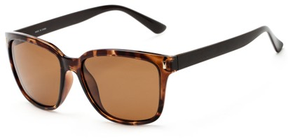 Angle of Crafter #5714 in Tortoise Frame/Brown Temples with Amber Lenses, Women's Retro Square Sunglasses