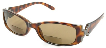 Angle of Classic #577 in Tortoise/Grey with Amber Lenses, Women's Square Reading Sunglasses