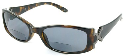 Angle of Classic #577 in Tortoise with Smoke Lenses, Women's Square Reading Sunglasses