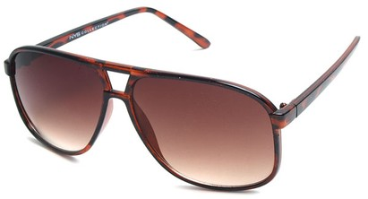 Angle of Sao Paulo #8199 in Brown Tortoise Frame with Amber Lenses, Men's Aviator Sunglasses