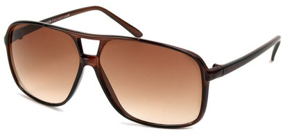 Angle of Grenada #1915 in Brown Frame with Amber Lenses, Women's and Men's Aviator Sunglasses