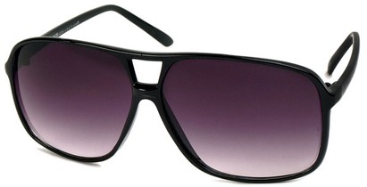 Angle of Grenada #1915 in Black Frame with Grey Lenses, Women's and Men's Aviator Sunglasses