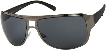 Angle of SW Fashion Style #2451 in Grey and Black Frame, Women's and Men's