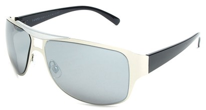 Angle of SW Fashion Style #2451 in Silver and Black Frame, Women's and Men's