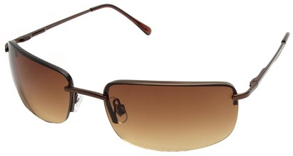 Angle of Mediterranean #6021 in Bronze Frame, Women's and Men's Square Sunglasses