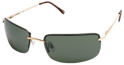 Angle of Mediterranean #6021 in Gold Frame with Green Lenses, Women's and Men's Square Sunglasses