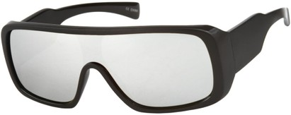 Mirrored Shield Style Sunglasses