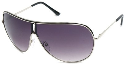 Angle of Fuji #61 in Black and Silver Frame, Women's and Men's Aviator Sunglasses
