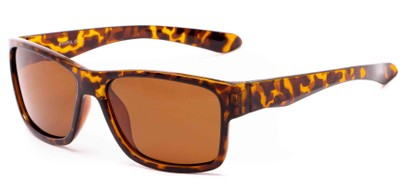 Angle of Winchester #6111 in Glossy Tortoise Frame with Amber Lenses, Men's Square Sunglasses