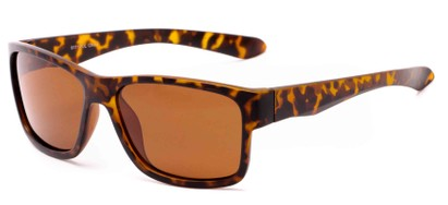 Angle of Winchester #6111 in Matte Tortoise Frame with Amber Lenses, Men's Square Sunglasses