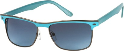 Angle of Montreal #3011 in Blue/Grey Frame, Women's and Men's Retro Square Sunglasses