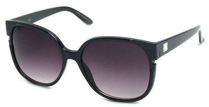 Angle of SW Oversized Round Style #1230 in Black Frame, Women's and Men's