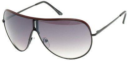 Angle of Fuji #61 in Black and Red Frame, Women's and Men's Aviator Sunglasses