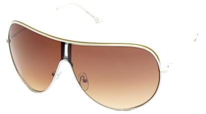 Angle of Fuji #61 in White Frame, Women's and Men's Aviator Sunglasses