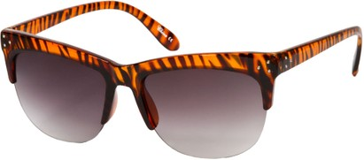 Angle of SW Animal Print Retro Style #7688 in Brown Zebra Print Frame, Women's and Men's