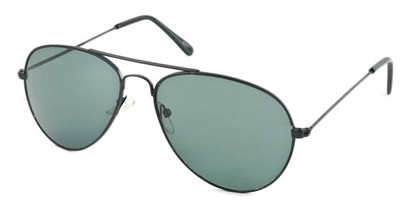 Angle of Precinct #1605 in Black Frame, Women's and Men's Aviator Sunglasses