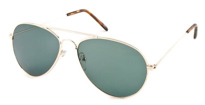 Angle of Precinct #1605 in Gold Frame, Women's and Men's Aviator Sunglasses