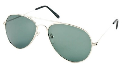 Angle of Precinct #1605 in Silver Frame, Women's and Men's Aviator Sunglasses