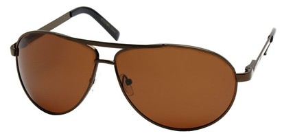 Angle of Knickerbocker #6318 in Bronze Frame, Women's and Men's Aviator Sunglasses