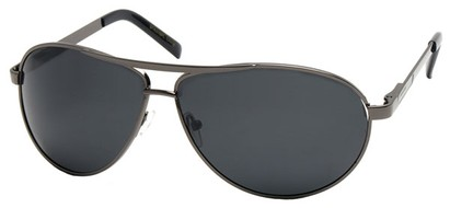 Angle of Knickerbocker #6318 in Grey Frame, Women's and Men's Aviator Sunglasses
