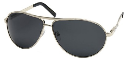 Angle of Knickerbocker #6318 in Silver Frame, Women's and Men's Aviator Sunglasses