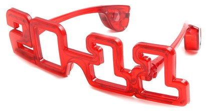 Angle of SW New Year's Eve Sunglasses #10 in Red, Women's and Men's