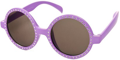 Angle of SW Celebrity Round Style #132 in Purple Frame, Women's and Men's